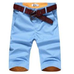JVR - Contrast-Cuff Shorts