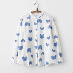 moripick - 印花立领衬衣