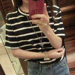 Jack Grace - Short-Sleeve Striped T-Shirt