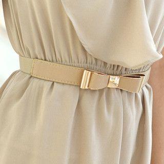 59th Street - Bow-Accent Elasticized Slim Belt