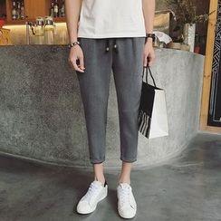JUN.LEE - Cropped Drawstring Pants