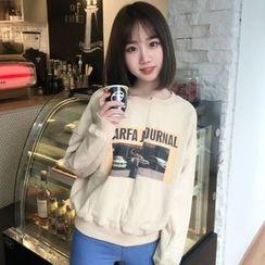 Dute - Print Asymmetric Sweatshirt
