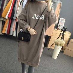 Dute - Lettering Sweatshirt Dress