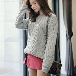 CHICLINE - Cable-Knit Sweater