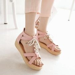 Tomma - 繫帶平底涼鞋