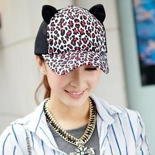 siggi - Ear-Accent Cheetah-Print Cap