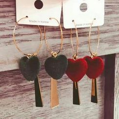 True Glam - Heart Earrings