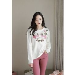 MyFiona - Flower Embroidered Sweater