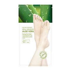 Nature Republic - Real Squeeze Aloe Vera Peeling Foot Mask 1pair
