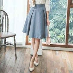 ode' - Pleated A-Line Skirt