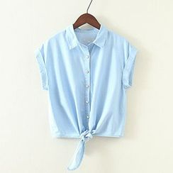 ninna nanna - Short-Sleeve Denim Shirt