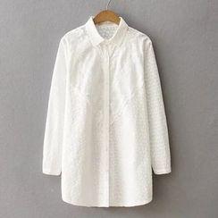 Nycto - Embroidered Long Shirt