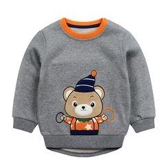 Ansel's - 童裝熊貼布繡衛衣