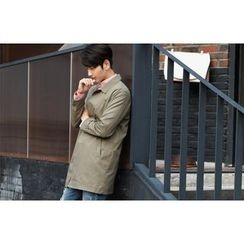 SCOU - Pocket-Side Single-Breasted Long Jacket