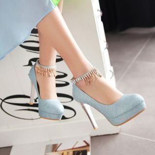 Pretty in Boots - Ankle Strap Pumps