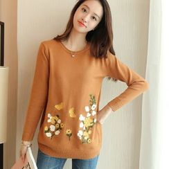 Weaverbird - Floral Embroidered Sweater