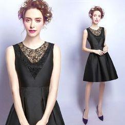 Angel Bridal - 蕾絲拼接小禮服