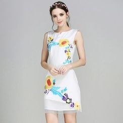 Elabo - Embroidered Sleeveless Dress