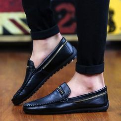 Preppy Boys - Metal-Panel Loafers