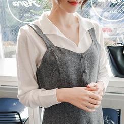 mimi&didi - Collared Open-Placket Knit Top