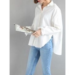 STYLEBYYAM - Slit-Side Cotton Shirt