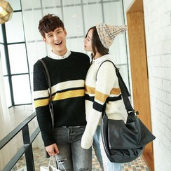 Evolu Fashion - Couple Striped Sweater
