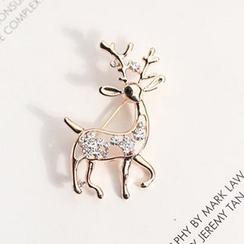 Kulala - Rhinestone Deer Brooch
