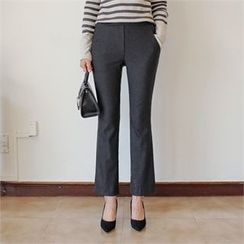 Styleberry - Band-Waist Boot-Cut Dress Pants