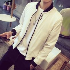 Besto - Plain Bomber Jacket