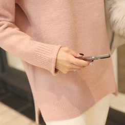 CLICK - High-Neck Knit Sweater