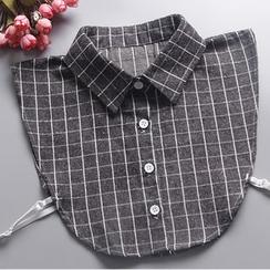 Eustacia - Check Decorative Collar
