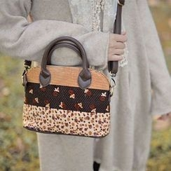 SUPER LOVER - Patterned Panel Satchel
