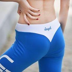 AT NINE - 字母瑜伽裤
