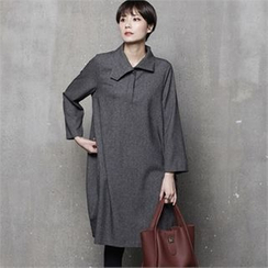 HALUMAYBE - Shift Shirt Dress