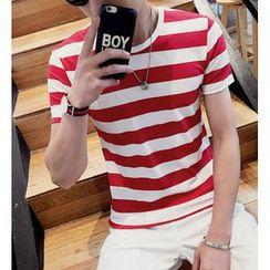 Fisen - Stripe Short-Sleeve T-Shirt