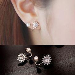 Best Jewellery - Rhinestone & Faux Pearl Earrings