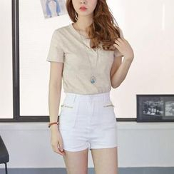 Sienne - High Waist Denim Shorts
