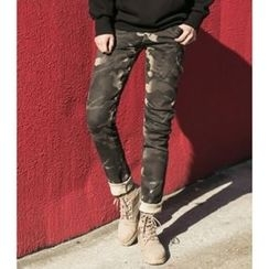 ABOKI - Camouflage Skinny Pants