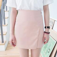 HotBlock - Plain A-Line Skirt