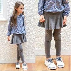 LILIPURRI - Kids Inset Skirt Leggings