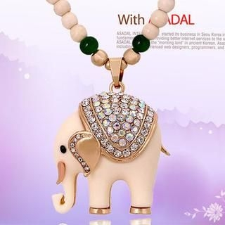 Best Jewellery - Rhinestone Elephant Necklace