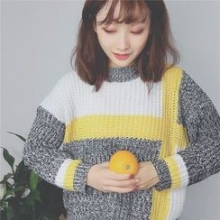 Bloombloom - Color Block Sweater