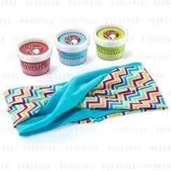 I Love Yo! - Travel Set:  ALL-IN-1 Yogurt Cleanser (30g) x 3 + Headband (Blue)