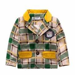 Endymion - Kids Plaid Notch Lapel Coat