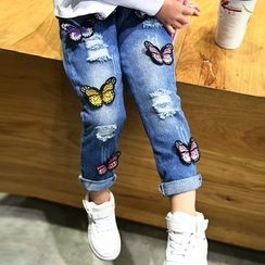 Merry Go Round - Kids Applique Jeans