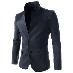 TheLees - Mandarin-Collar Single Jacket