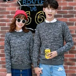 CASSY - Couple Matching Melange Sweater