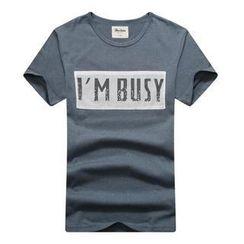 K-Style - Short-Sleeve Lettering T-Shirt