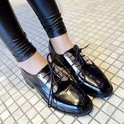 Mancienne - Sequined Lace-Up Oxford Shoes