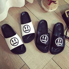 Laceuplux - Smiley Face Slippers